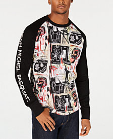 Sean John Men's Basquiat Raglan-Sleeve Graphic T-Shirt