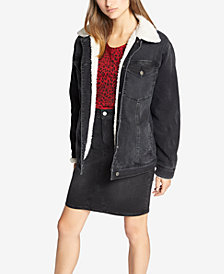 Sanctuary Sherpa-Trim Denim Jacket