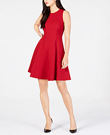 Anne Klein Seamed Sleeveless Fit & Flare Dress