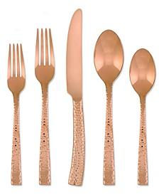 Argent Orfèvres Paris Hammered  Copper 20-Pc. Flatware Set, Service for 4