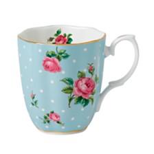 Royal Albert Polka Blue Rose Vintage Mug
