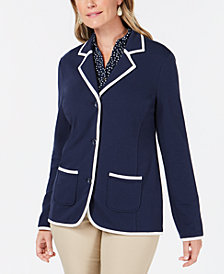 Charter Club Petite Knit Blazer, Created for Macy's