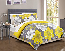 Chic Home Morning Glory 3 Pc Queen Duvet Cover Set