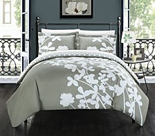 Calla Lily 3 Pc Queen Duvet Cover Set
