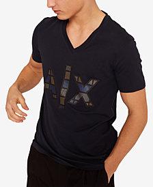 A|X Armani Exchange Men's Checkered Logo T-Shirt