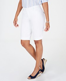 Charter Club Petite Tummy Control Bermuda Shorts, Created for Macy's