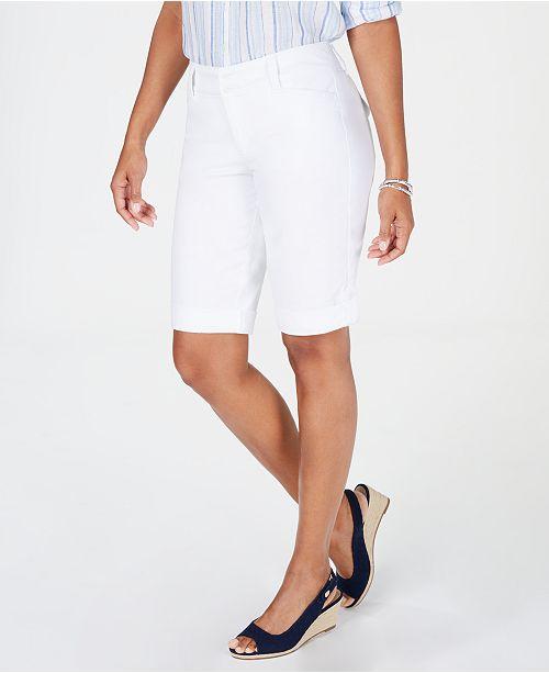Charter Club Petite Tummy Control Bermuda Shorts, Created for Macy's