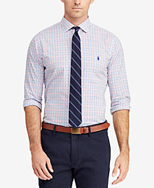 Polo Ralph Lauren Men's Big & Tall Classic Fit Plaid  Poplin Shirt