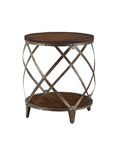 Logan Casual Spiral Accent Table