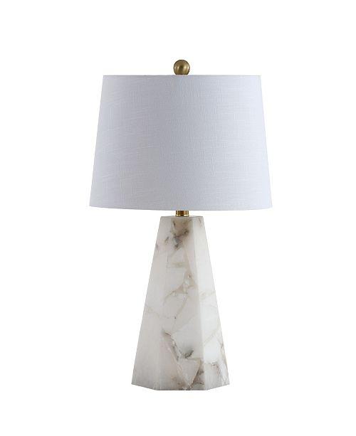 "JONATHAN Y Xio 25.5"" Alabaster LED Table Lamp"