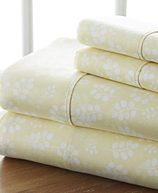 The Timeless Classics by Home Collection Premium Ultra Soft Pattern 4 Piece Bed Sheet Set - Full