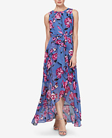 SL Fashions Floral High-Low Maxi Dress