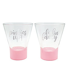 TMD Holdings Pinkies Up Fancy Blush Dip Martini Glass