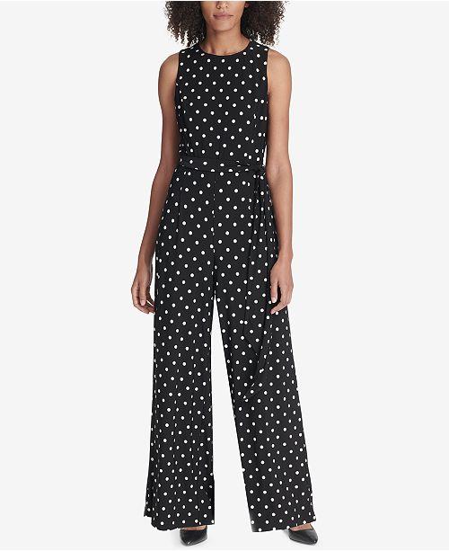 ea133e1dce32 Tommy Hilfiger Belted Floral Printed Jumpsuit   Reviews - Dresses ...