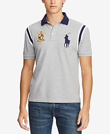 Polo Ralph Lauren Men's Custom Slim Fit Novelty Mesh Polo, Created for Macy's