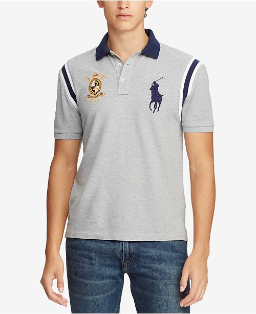 f23133a8f6 ... Polo Ralph Lauren Men's Slim Fit Novelty Mesh Polo, Created for Macy's  ...