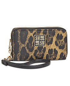 Steve Madden Megan Double Zip Wallet