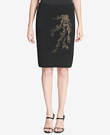 Calvin Klein Embellished Pull-On Pencil Skirt
