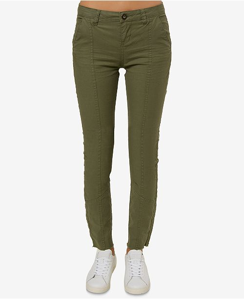 O'Neill Juniors' Turlington Raw-Hem Skinny Pants