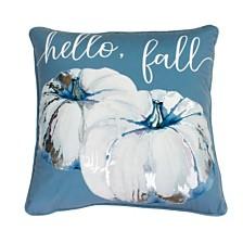 "Thro Polyester Fill Faith Fall Foil Printed Payton Velvet Pillow, 20"" x 20"""