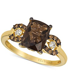 Le Vian® Smoky Quartz (1-9/10 ct. t.w.) & Diamond (1/8 ct. t.w.) Ring in 14k Gold