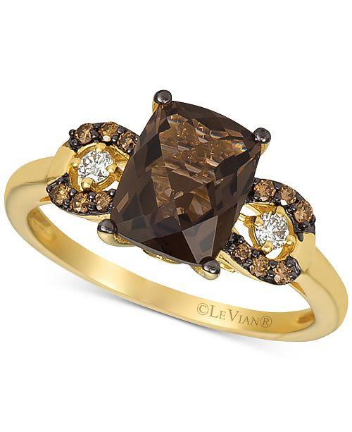 Le Vian Smoky Quartz (1-9/10 ct. t.w.) & Diamond (1/8 ct. t.w.) Ring in 14k Gold