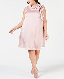 Plus Size Satin Trapeze Dress