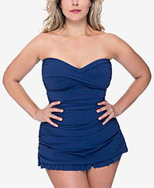 Profile by Gottex Plus Size Tutti Fruitti Ruched Swimdress
