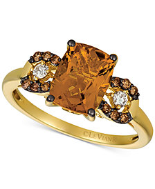 Le Vian® Citrine (1-9/10 ct. t.w.) & Diamond (1/8 ct. t.w.) Ring in 14k Gold