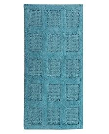 Square Honeycomb 21x34 Cotton Bath Rug