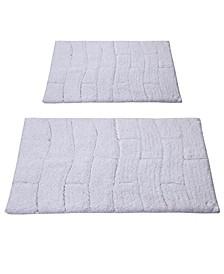 New Tile 2 Pc Cotton Bath Rug Set