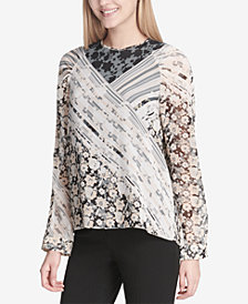 Calvin Klein Mixed Print Top