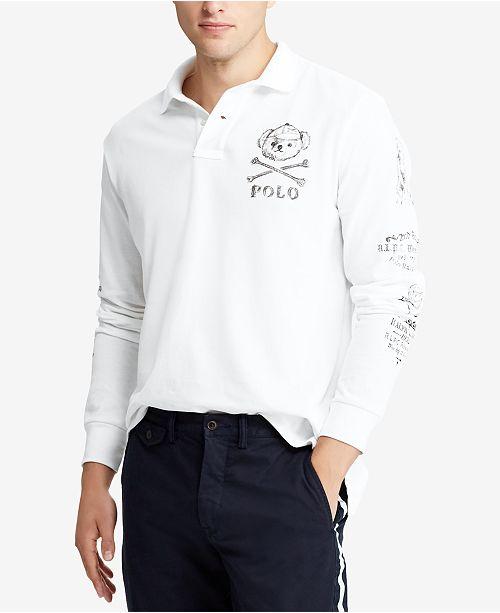ff8d4472de503 Polo Ralph Lauren Men s Custom Slim Fit Long-Sleeve Polo ...