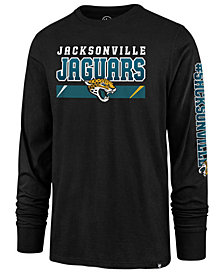 '47 Brand Men's Jacksonville Jaguars Level Up Long Sleeve Super Rival T-Shirt