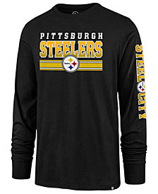 '47 Brand Men's Pittsburgh Steelers Level Up Long Sleeve Super Rival T-Shirt