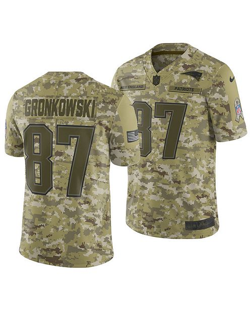 new arrivals 299c7 3cd3a Nike Men's Rob Gronkowski New England Patriots Salute To ...