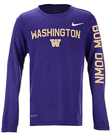 Nike Washington Huskies Legend Long Sleeve T-Shirt, Big Boys (8-20)