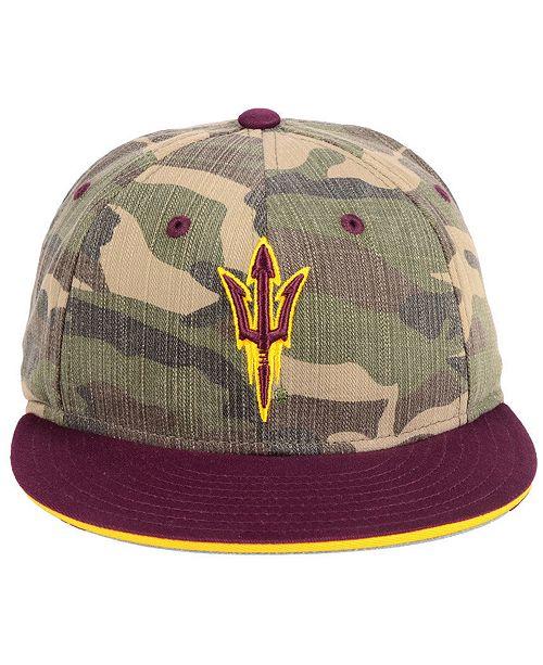 953a52247b4 adidas Arizona State Sun Devils Stadium Performance Camo Fitted Cap -  Sports Fan Shop By Lids - Men - Macy s