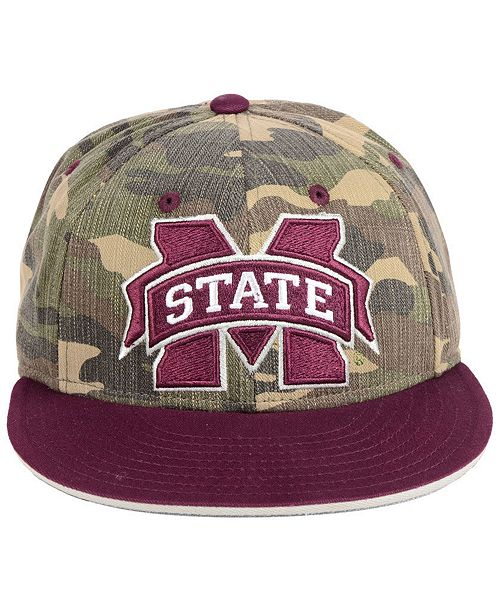83b467418a5 adidas Mississippi State Bulldogs Stadium Performance Camo Fitted Cap -  Sports Fan Shop By Lids - Men - Macy s