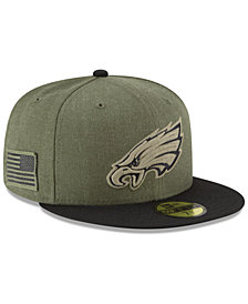 New Era Philadelphia Eagles Salute To Service 59FIFTY FITTED Cap