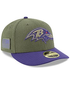 New Era Baltimore Ravens Salute To Service Low Profile 59FIFTY Fitted Cap 2018