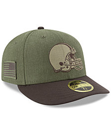 New Era Cleveland Browns Salute To Service Low Profile 59FIFTY Fitted Cap 2018