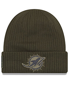 New Era Miami Dolphins Salute To Service Cuff Knit Hat