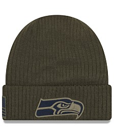 New Era Seattle Seahawks Salute To Service Cuff Knit Hat