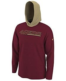 Men's San Francisco 49ers Helmet Hood Dri-FIT Cotton Long Sleeve T-Shirt
