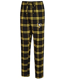 Concepts Sport Men's Pittsburgh Penguins Homestretch Flannel Pajama Pants
