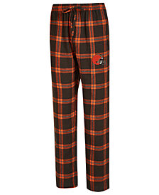 Concepts Sport Men's Cleveland Browns Homestretch Flannel Sleep Pants