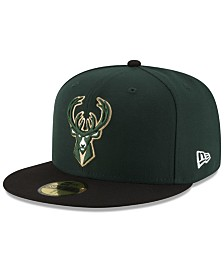 New Era Milwaukee Bucks Basic 2 Tone 59FIFTY Fitted Cap