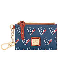 Dooney & Bourke Houston Texans Zip Top Card Case