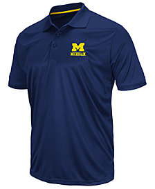 Colosseum Men's Michigan Wolverines Short Sleeve Polo